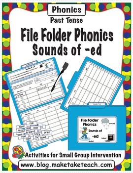 Sounds of -ed - File Folder Phonics