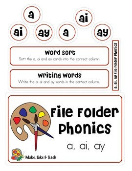 File Folder Phonics- a/ai/ay