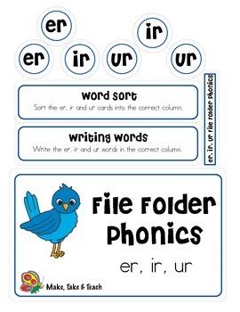 er/ir/ur - File Folder Phonics