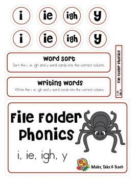 File Folder Phonics- i/ie/igh/y