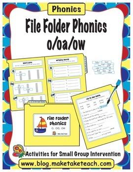 File Folder Phonics- o/oa/ow