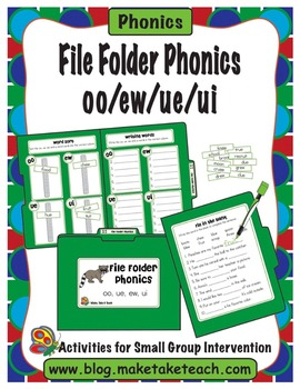 File Folder Phonics- oo/ew/ue/ui