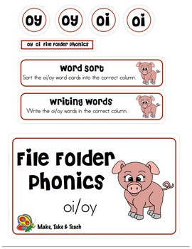 oi oy - File Folder Phonics