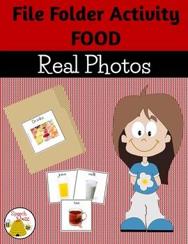 File Folder Photo Activities:  Food