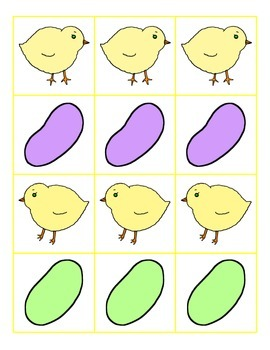 File Folder Preceding and Following Numbers Through 20 (Easter Theme)