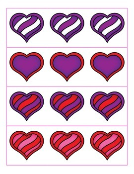 File Folder Preceding and Following Numbers Through 20 (Heart Theme)