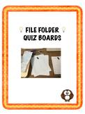 File Folder Quiz Board