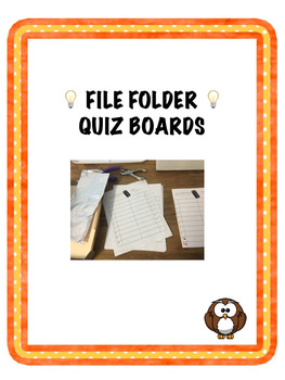 File Folder Quiz Board
