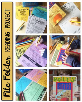 book report file folder reading project book project