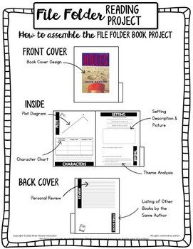 Independent Work Book Report, File Folder Reading Project, Book Project