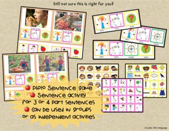 Autism Activities: File Folder Picture Sentence Building: Fall  School Trips