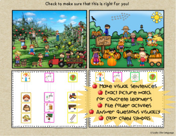 File Folder Language Activities for Special Education: Apples & Pumpkins