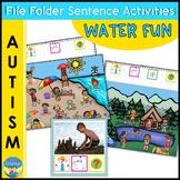 Autism File Folder Sentence Building Activities for Summer Water Fun