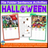 Autism File Folder Sentence Building Activities for Halloween