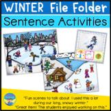 Autism File Folder Sentence Building Activities for Winter