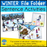 File Folder Games for Special Education | Winter Sentence