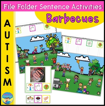 Autism File Folder Sentence Building Activities for Grilling Foods and Barbecues