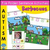 File Folder Games for Special Education   BBQ Sentence Activities