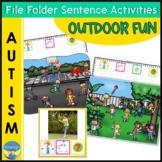 Autism File Folder Sentence Building Activities for Outdoor Fun