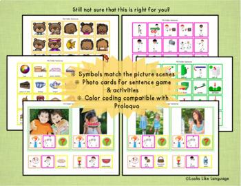 Autism Activities: File Folder Picture Sentence Building- Picnic!