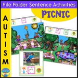File Folder Games for Special Education | Picnic Sentence