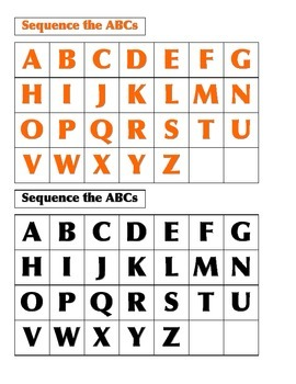 File Folder Sequencing the ABC's