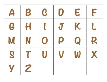 File Folder Activity Sequencing the ABC's (Brown)
