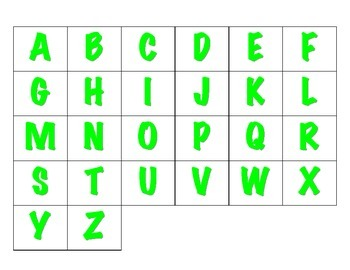 File Folder Sequencing the ABC's Uppercase (Light Green)