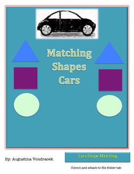 File Folder Shape Matching Cars