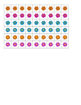 File Folder Show Quantity Given Numeral 1-10 (Flower Theme)