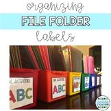 File Folder Skill Labels for Organization