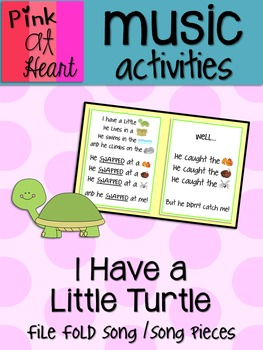 I Have A Little Turtle - File Folder Song and Song Pieces