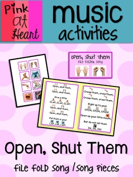 Open, Shut Them - File Folder Song and Song Pieces