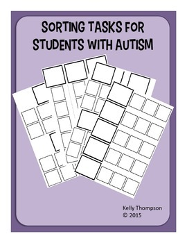 File Folder Sorting Tasks for Students with Autism/Special Needs