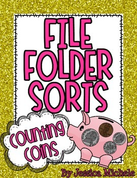 File Folder Sorts {Counting Coins}