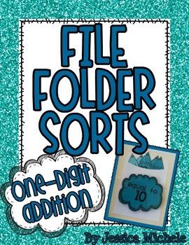 File Folder Sorts {One-Digit Addition}