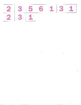 File Folder Subtraction 0-9 (Hearts)