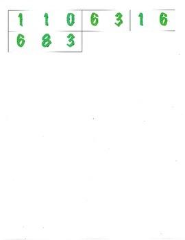 File Folder Subtraction 0-9 (Shamrocks)
