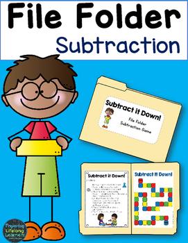 File Folder Subtraction Game