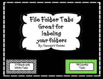 Freebie File Folder Tabs