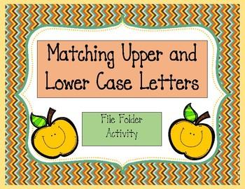 File Folder- Upper Case Lower Case Matching-Autism