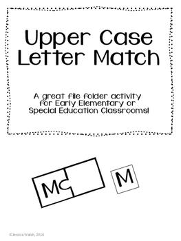 File Folder- Uppercase Letter Match