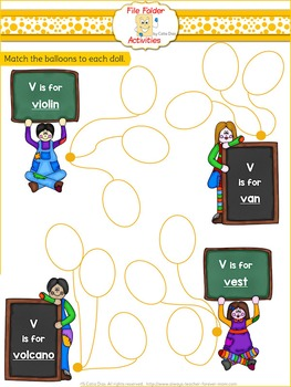 File Folder - V - Activity Set