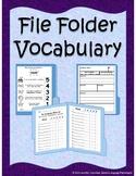 File Folder Vocabulary Notebook