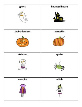 Halloween Vocabulary - Writing Workshop Resource