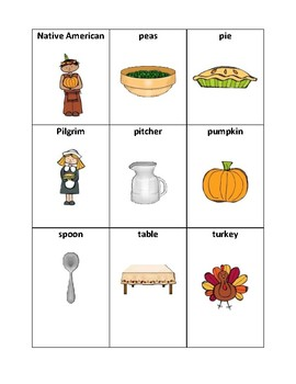 Thanksgiving Vocabulary - Writing Workshop Resource