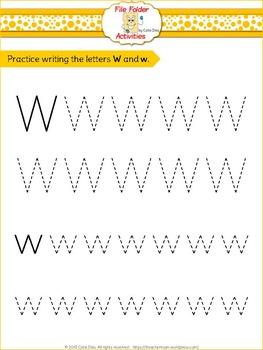 Letter W - File Folders