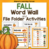 File Folder Word Wall - FALL!