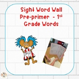 File Folder Word Wall Preprimer to First Grade