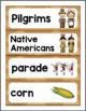 File Folder Word Wall: Thanksgiving
